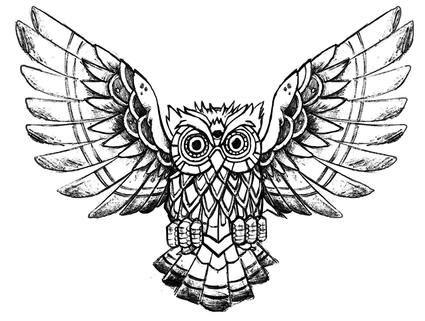 Pin Von Haxi Moerl Auf Owl | Malvorlage Eule, Vogel bei Malvorlage Uhu