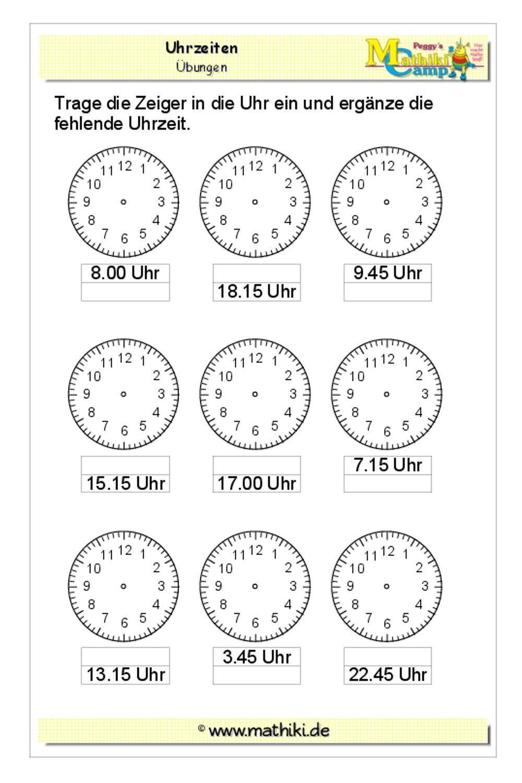 Pin Von Julia Jakobs Auf Schule In 2020 (Mit Bildern mit Uhrzeit Lernen 2 Klasse