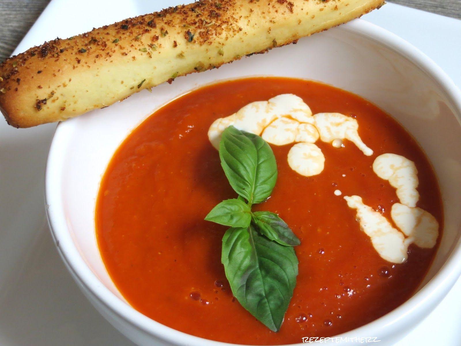 Pin Von Larissa Rothe Auf Suppe   Tomaten Suppe verwandt mit Tomatensuppe Aus Passierten Tomaten
