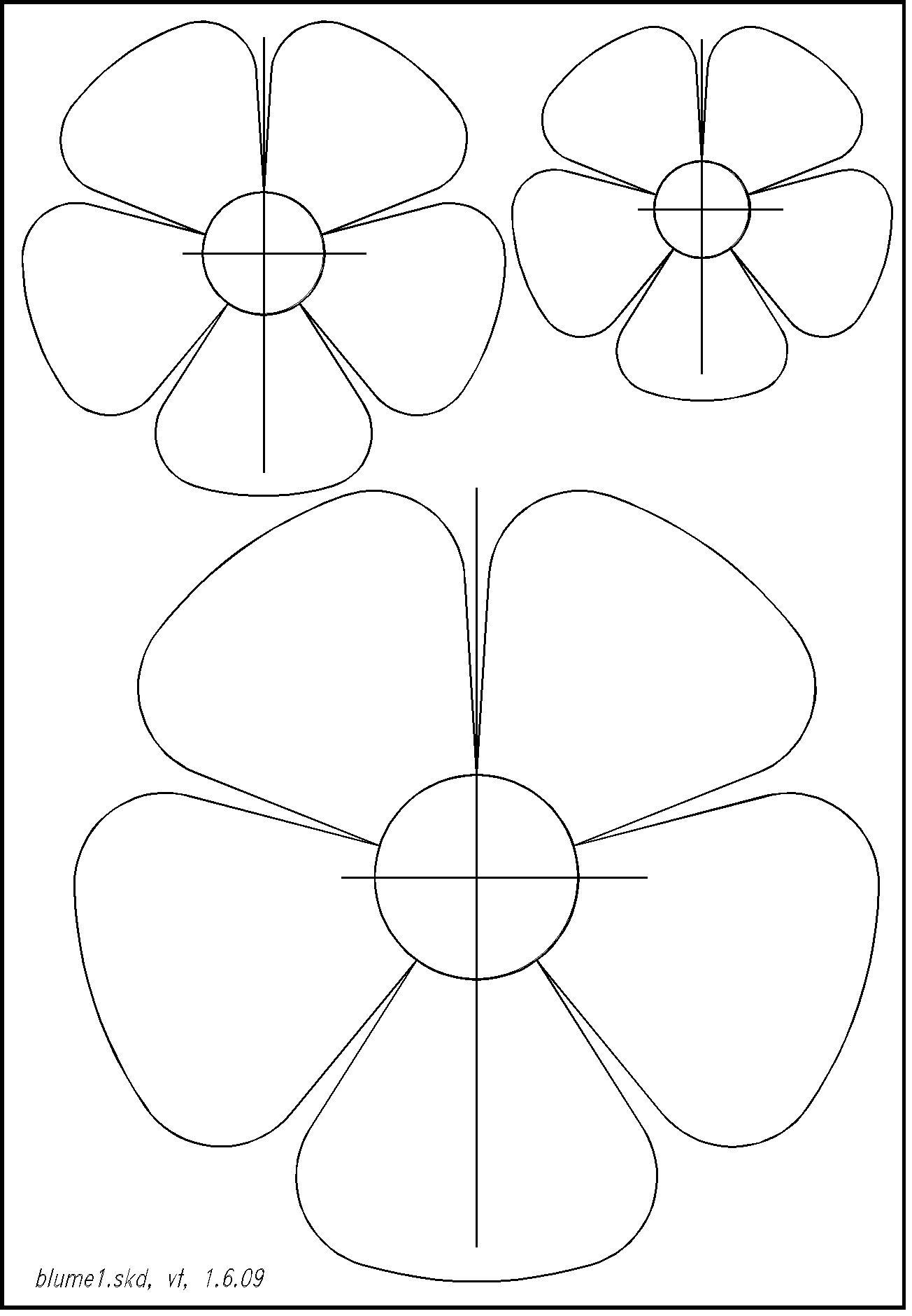 Pin Von Mcclan Auf Paper Craft (Mit Bildern)   Vorlagen bestimmt für Blumen Vorlagen Kostenlos Ausdrucken