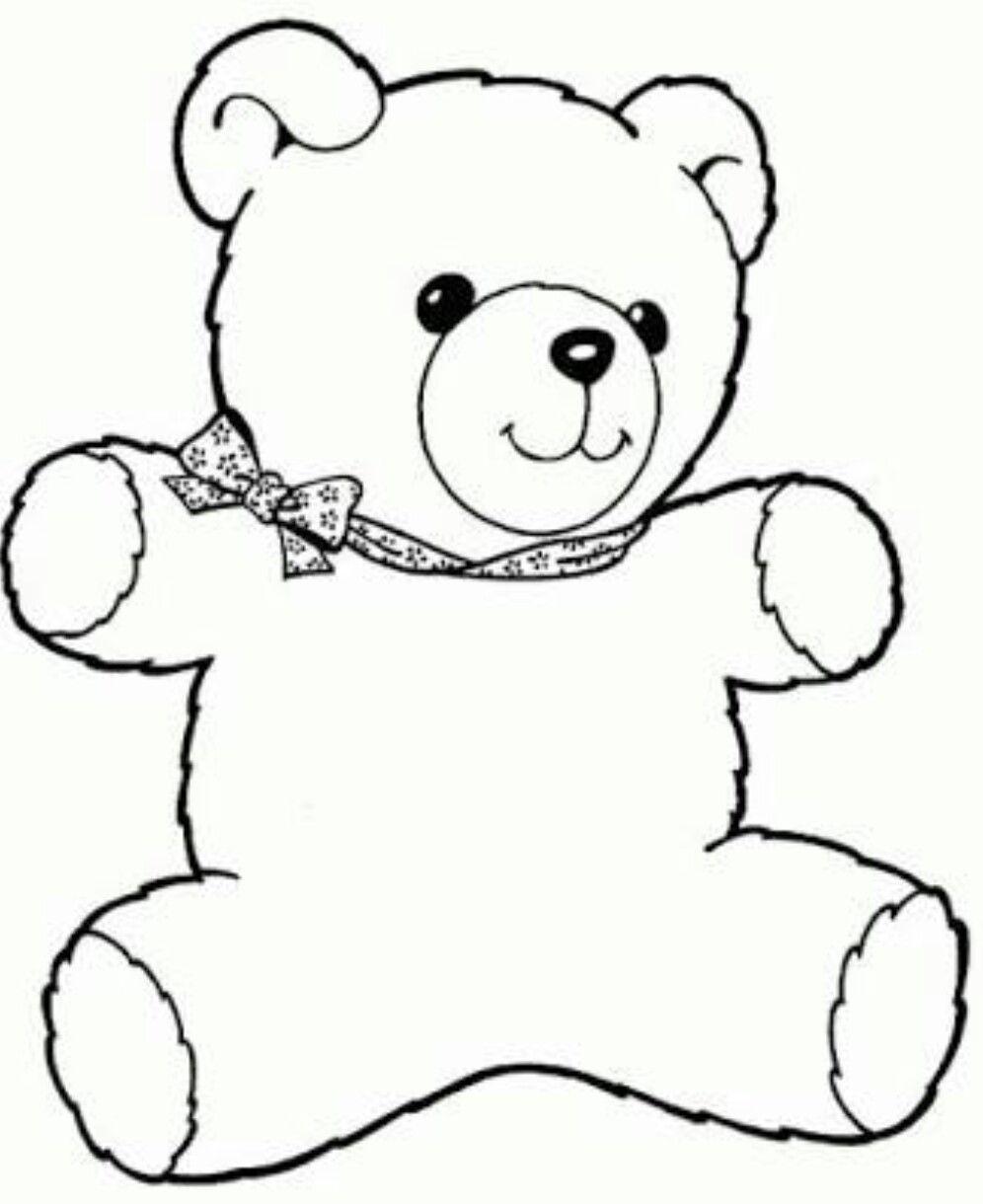 Pin Von Pykafabienne Auf Kita | Teddybär Bild, Ausmalbilder mit Teddybär Malvorlage