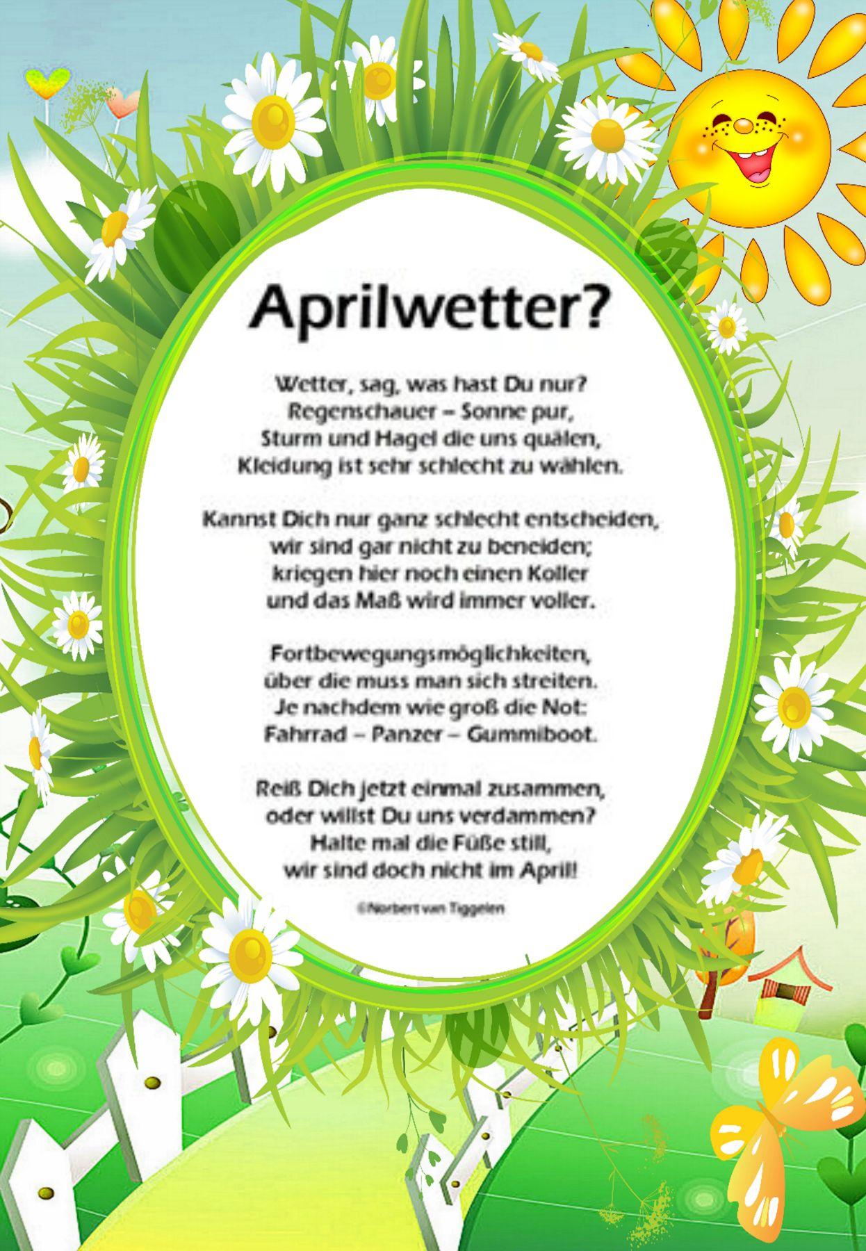 Pin Von Roswitha Mura Auf Gedichte Und Sinnsprüche Van mit Frühlingsgedichte Für Kindergartenkinder