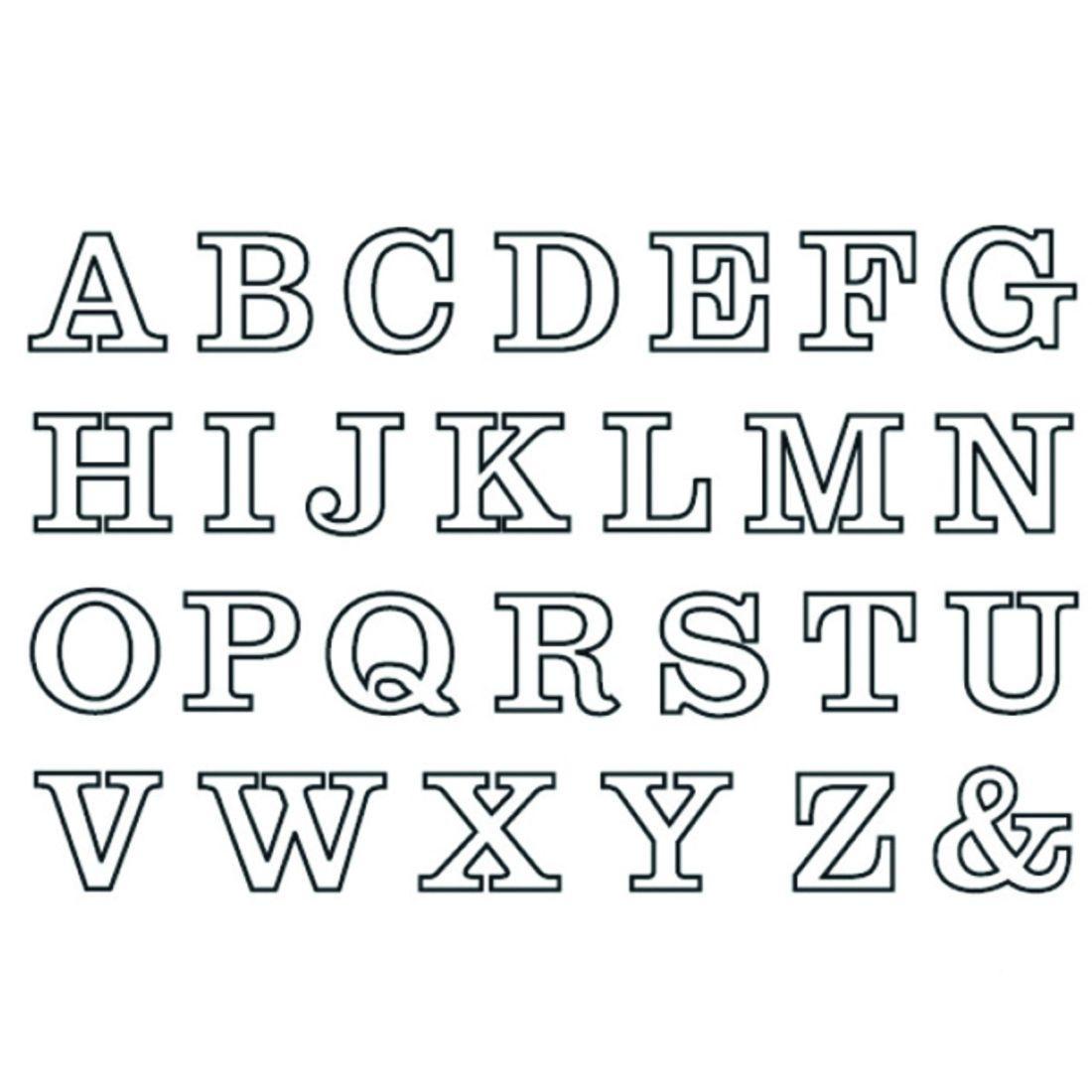 Pin Von Simba Trix Auf Schriften (Mit Bildern) | Buchstaben über Buchstaben Schablone Zum Ausdrucken