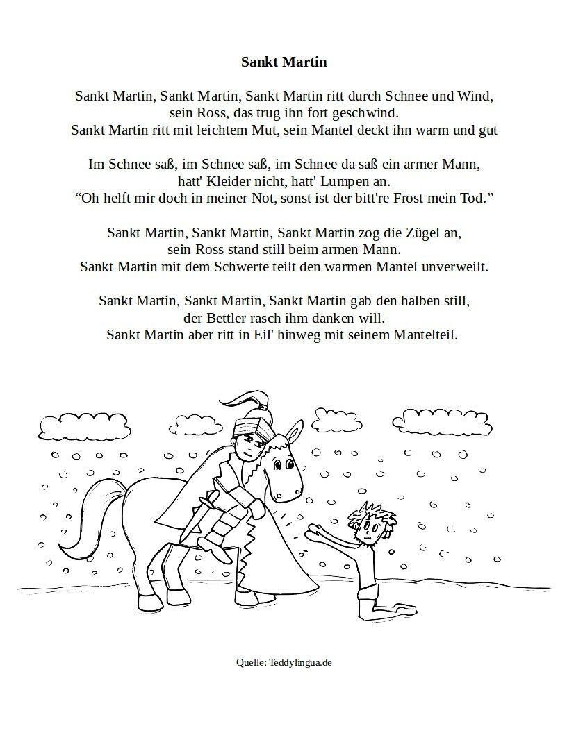 Pin Von Theresia Auf St. Martin In 2020 (Mit Bildern) | Hl mit St Martin Ritt Durch Schnee Und Wind Text
