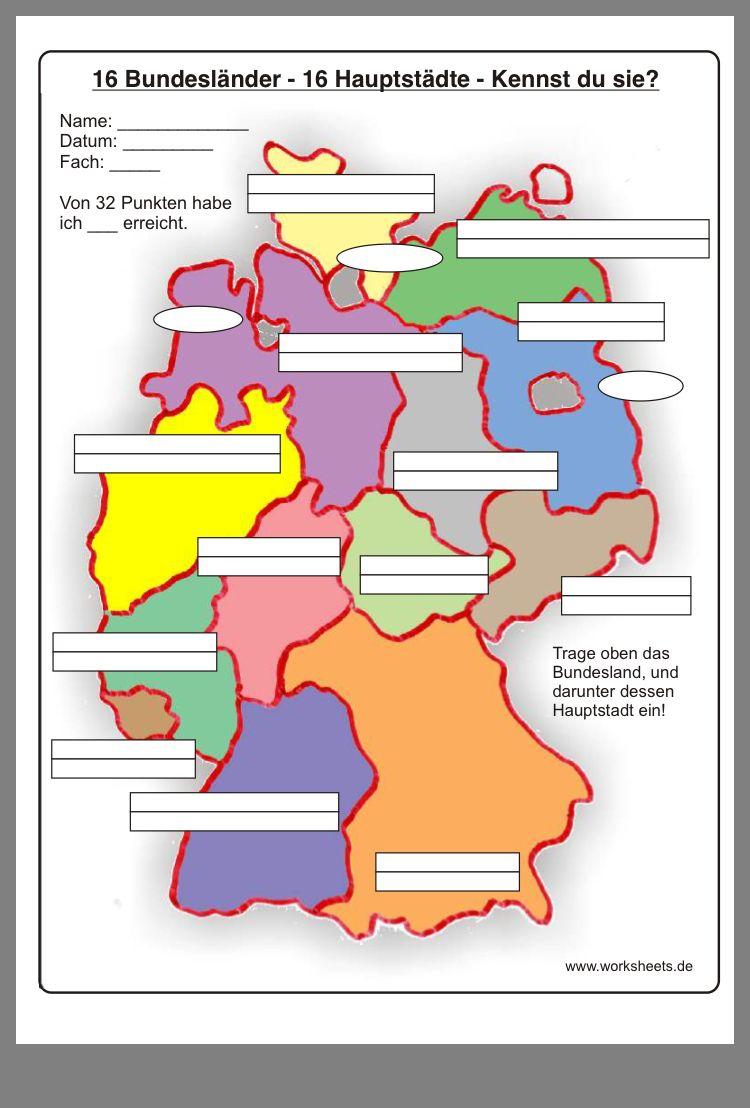 Pin Von Xxxxxx Auf Schule (Mit Bildern) | Bundesländer Und ganzes Die Deutschen Bundesländer Und Ihre Hauptstädte