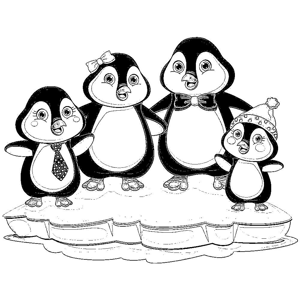 Pinguin Ausmalbilder Zum Ausmalen Für Kinder - Kids über Pinguin Malvorlage