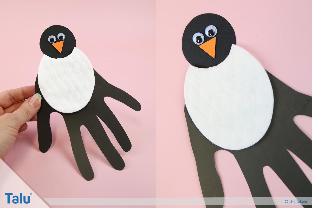 Pinguin Basteln Mit Kindern - Anleitung Und Ideen - Talu.de in Pinguin Bastelvorlage