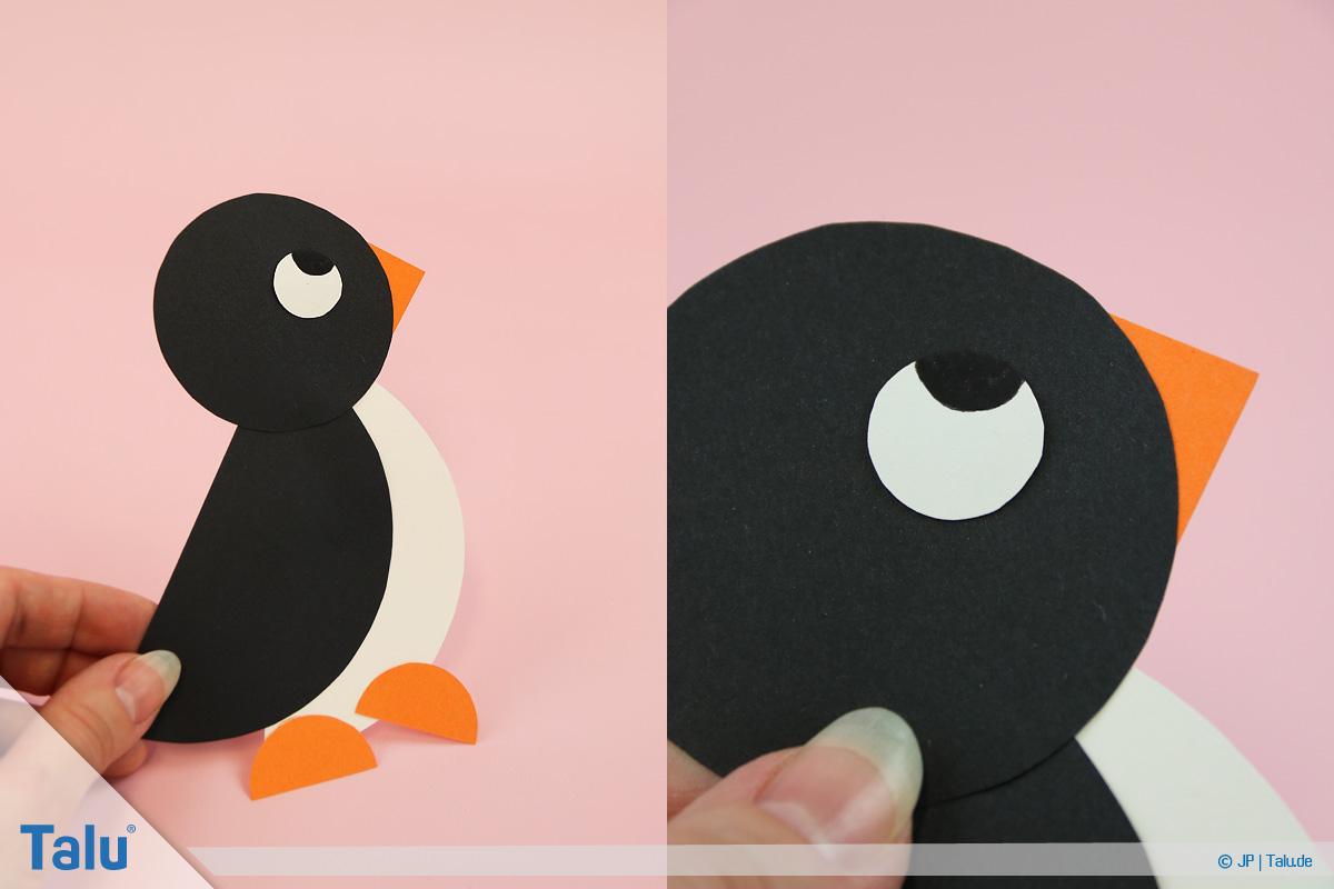 Pinguin Basteln Mit Kindern - Anleitung Und Ideen - Talu.de innen Pinguin Bastelvorlage