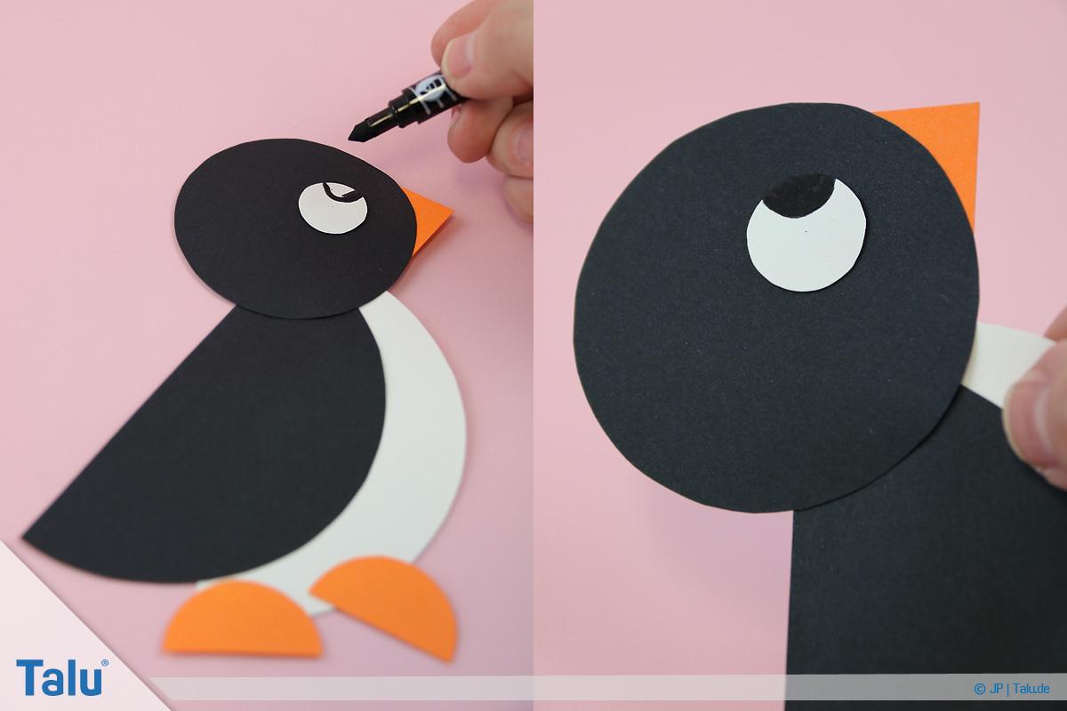 Pinguin Basteln Mit Kindern - Anleitung Und Ideen - Talu.de mit Pinguin Bastelvorlage