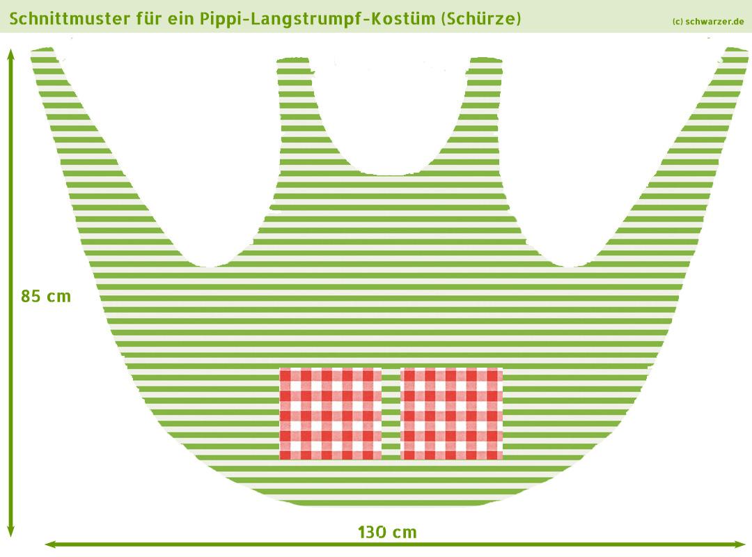 Pippi-Langstrumpf-Kostüm Selber Nähen bestimmt für Pippi Langstrumpf Kostüm Selber Nähen