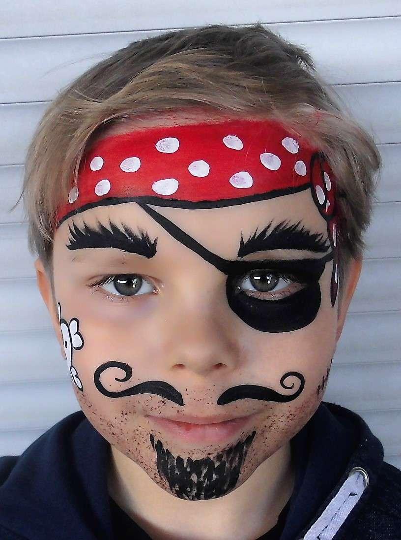 Pirat-Schminkvorlage Für Fasching Oder Kindergeburtstag in Schminkvorlagen Kinderschminken Zum Ausdrucken
