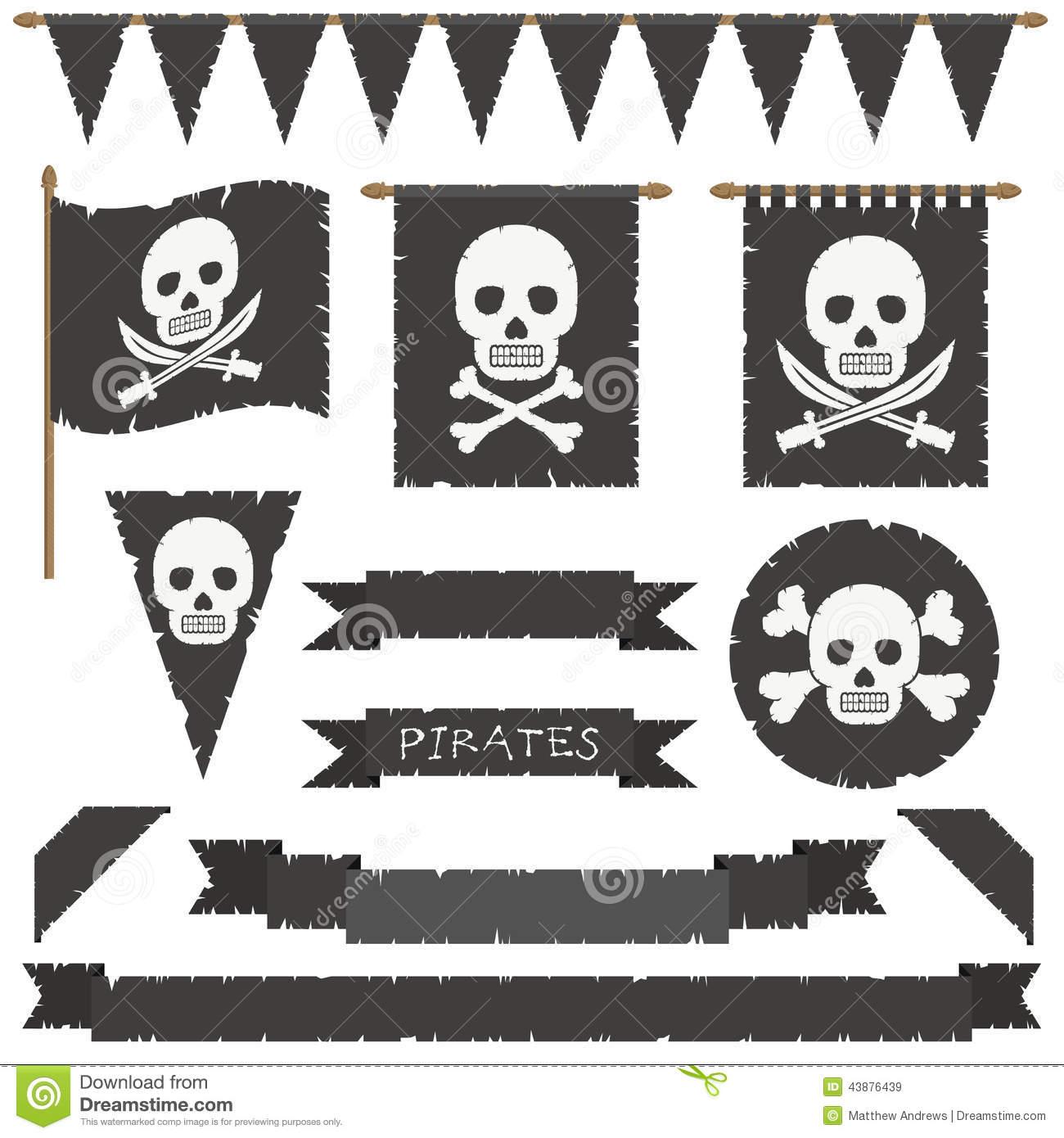Piratenflaggen Vektor Abbildung. Illustration Von Gealtert verwandt mit Piratenflaggen