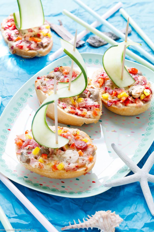 Pizza-Schiffchen - Der Schnelle Snack Für Die Kinder-Party verwandt mit Schnelles Für Das Abendessen Beim Kindergeburtstag Rezepte