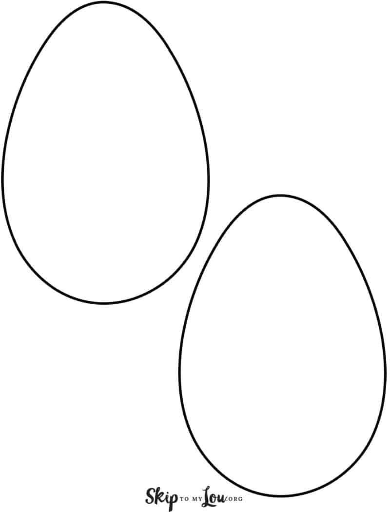 Plain Egg Templates 2 On Page In 2020 | Osterbasteln über Vorlage Ei