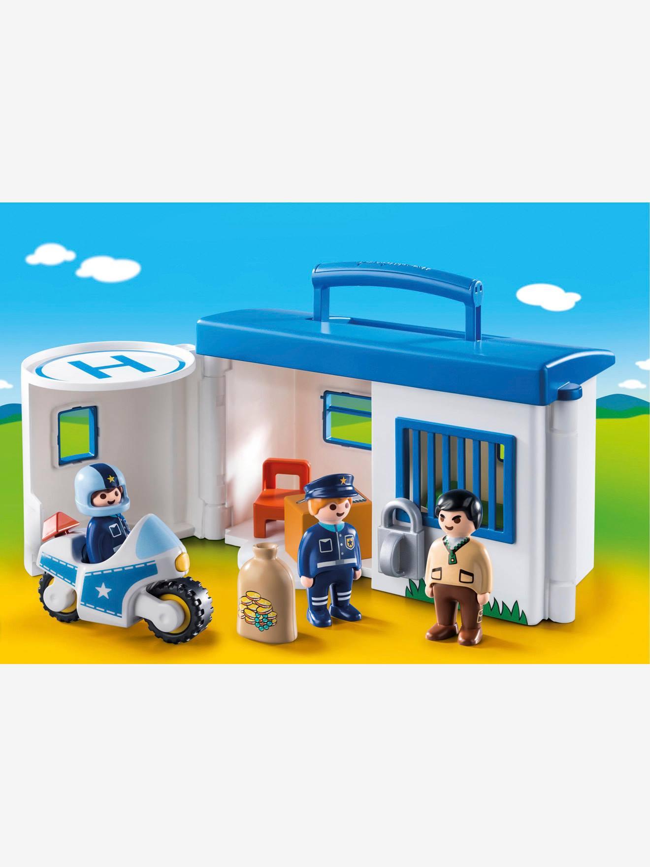 """Playmobil 1.2.3 9382 """"Meine Mitnehm-Polizeistation"""" Playmobil® In Mehrfarbig über Polizeiwache Playmobil"""