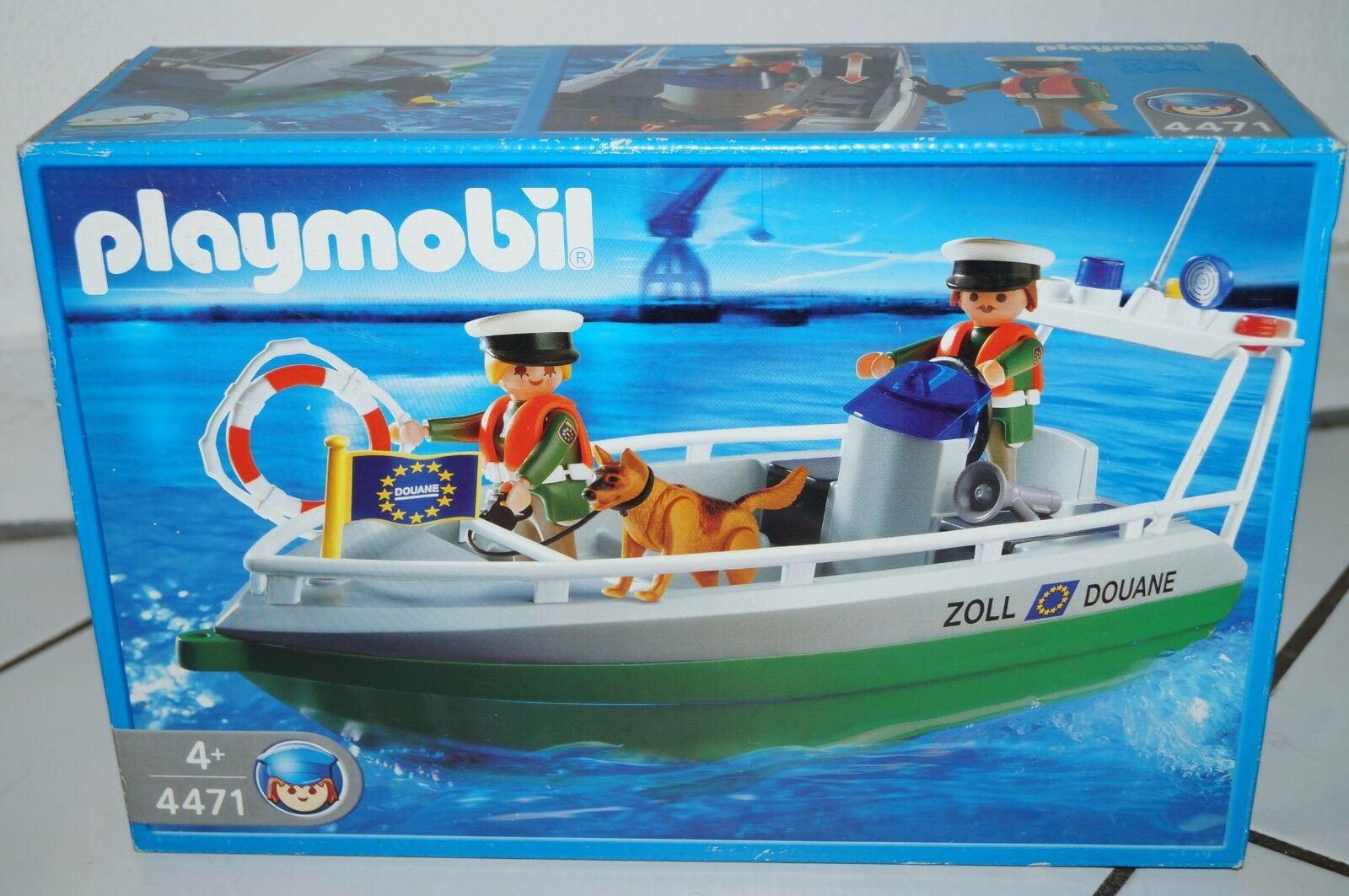 Playmobil 4471 Hafen Zollschiff bei Playmobil Containerschiff