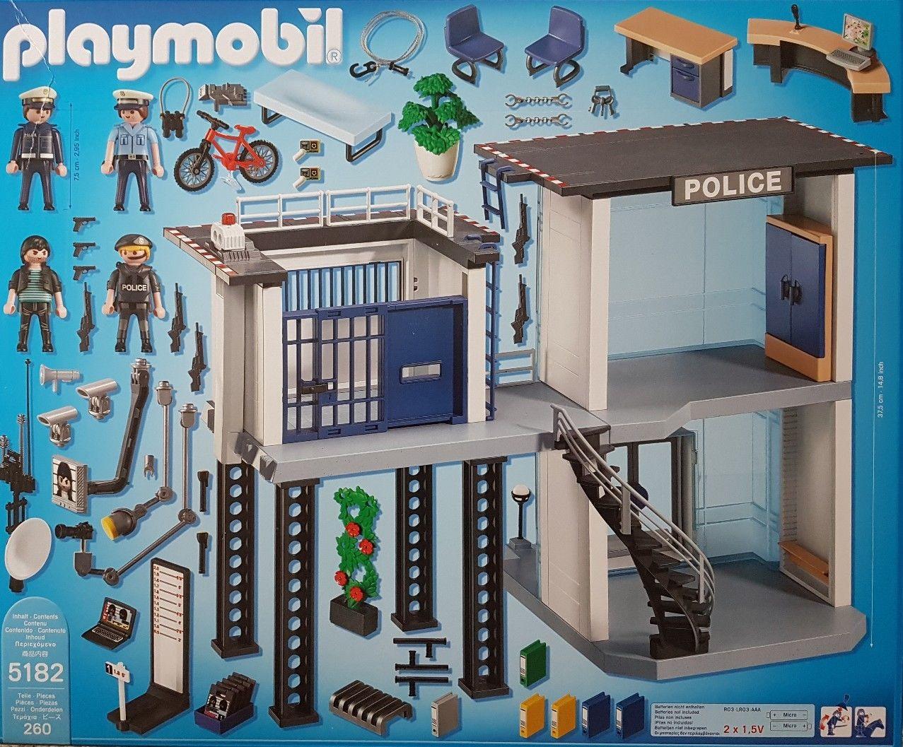 Playmobil 5182 Polizei Kommandostation Mit Alarmanlage bei Polizeiwache Playmobil