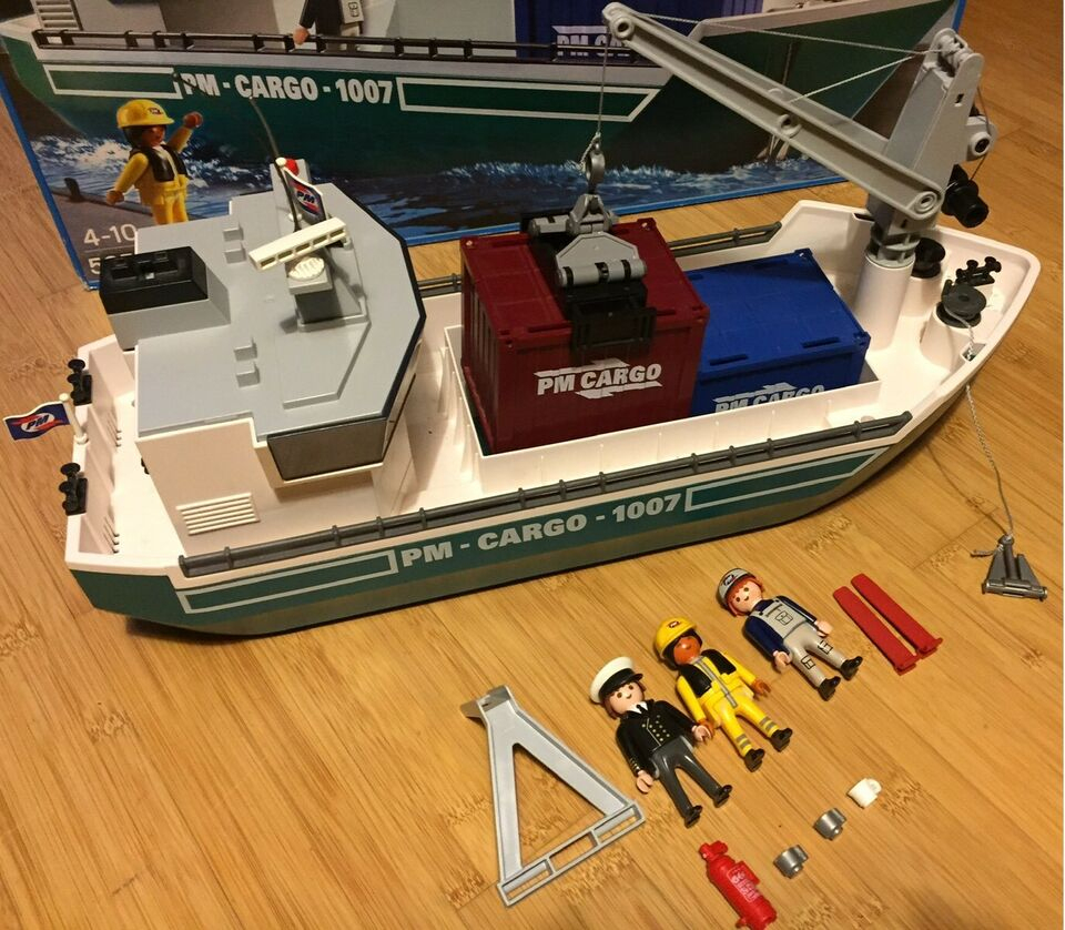 Playmobil 5253 - Frachtschiff Cargo City Action bei Playmobil Containerschiff