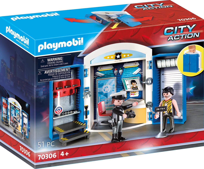 Playmobil 70306 Spielbox In Der Polizeistation in Polizeiwache Playmobil