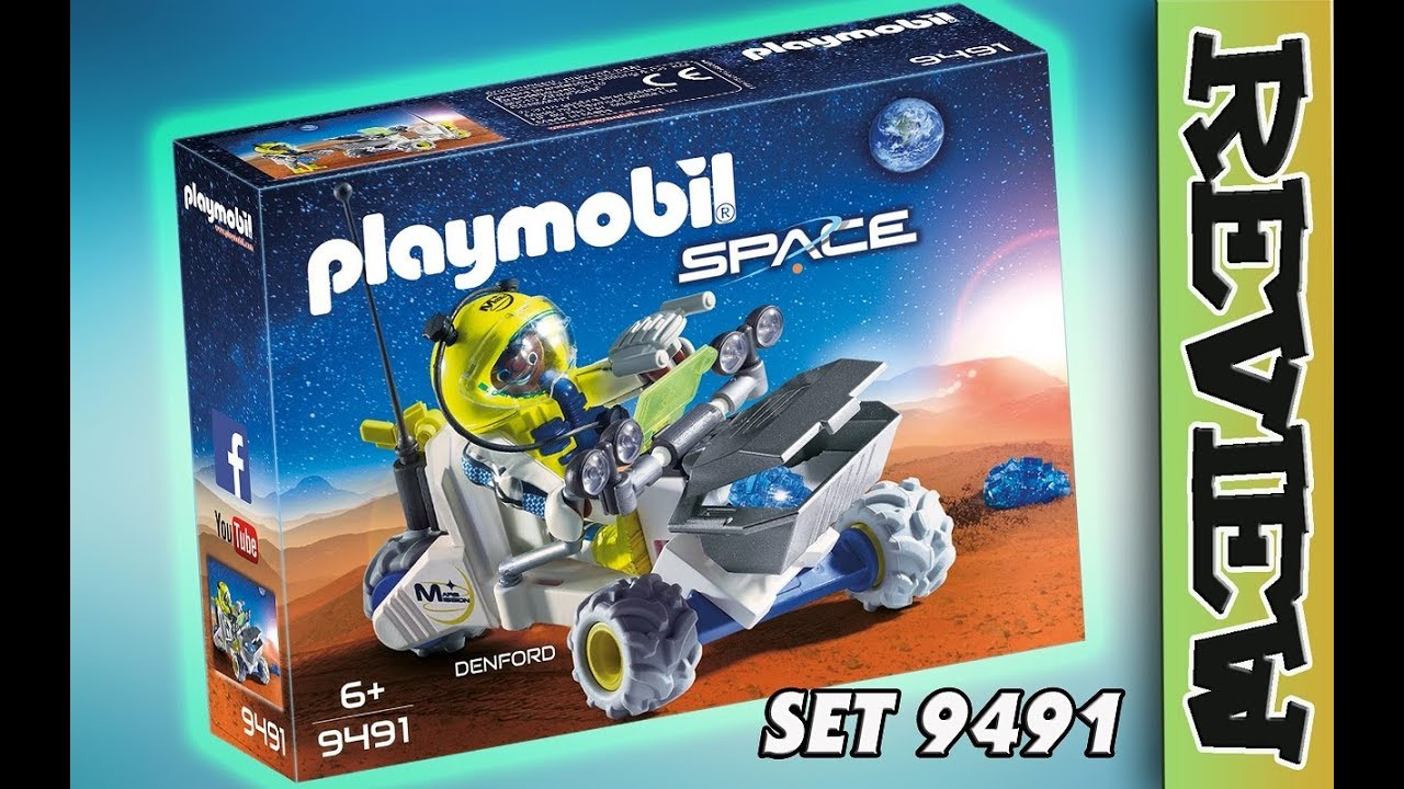 Playmobil 9491 Space Trike Mit Astronaut :rasen Über Den Mars mit Playmobil Raumstation