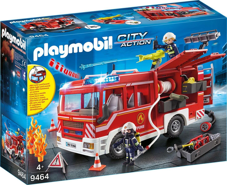 Playmobil City Action Feuerwehr-Rüstfahrzeug über Playmobil Feuerwehrwache