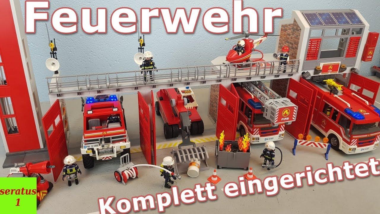 Playmobil Feuerwache 9462 Komplett Eingerichtet Alle Feuerwehr Sets Seratus1 mit Playmobil Feuerwehrwache