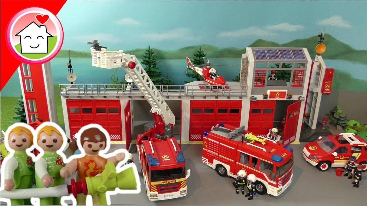 Playmobil Feuerwehr Film Deutsch - Die Kita Besucht Die Feuerwehr - Familie  Hauser ganzes Playmobil Feuerwehrwache