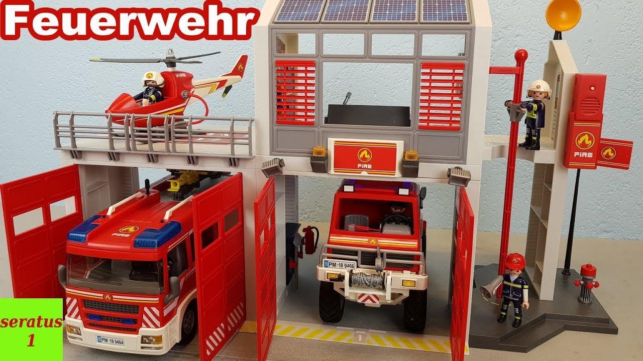 Playmobil Feuerwehr Große Feuerwache 9462 Auspacken Seratus1 mit Playmobil Feuerwehrwache