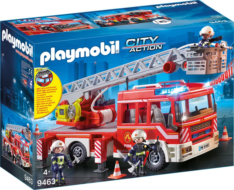 Playmobil - Feuerwehr-Leiterfahrzeug 9463 über Playmobil Feuerwehrwache