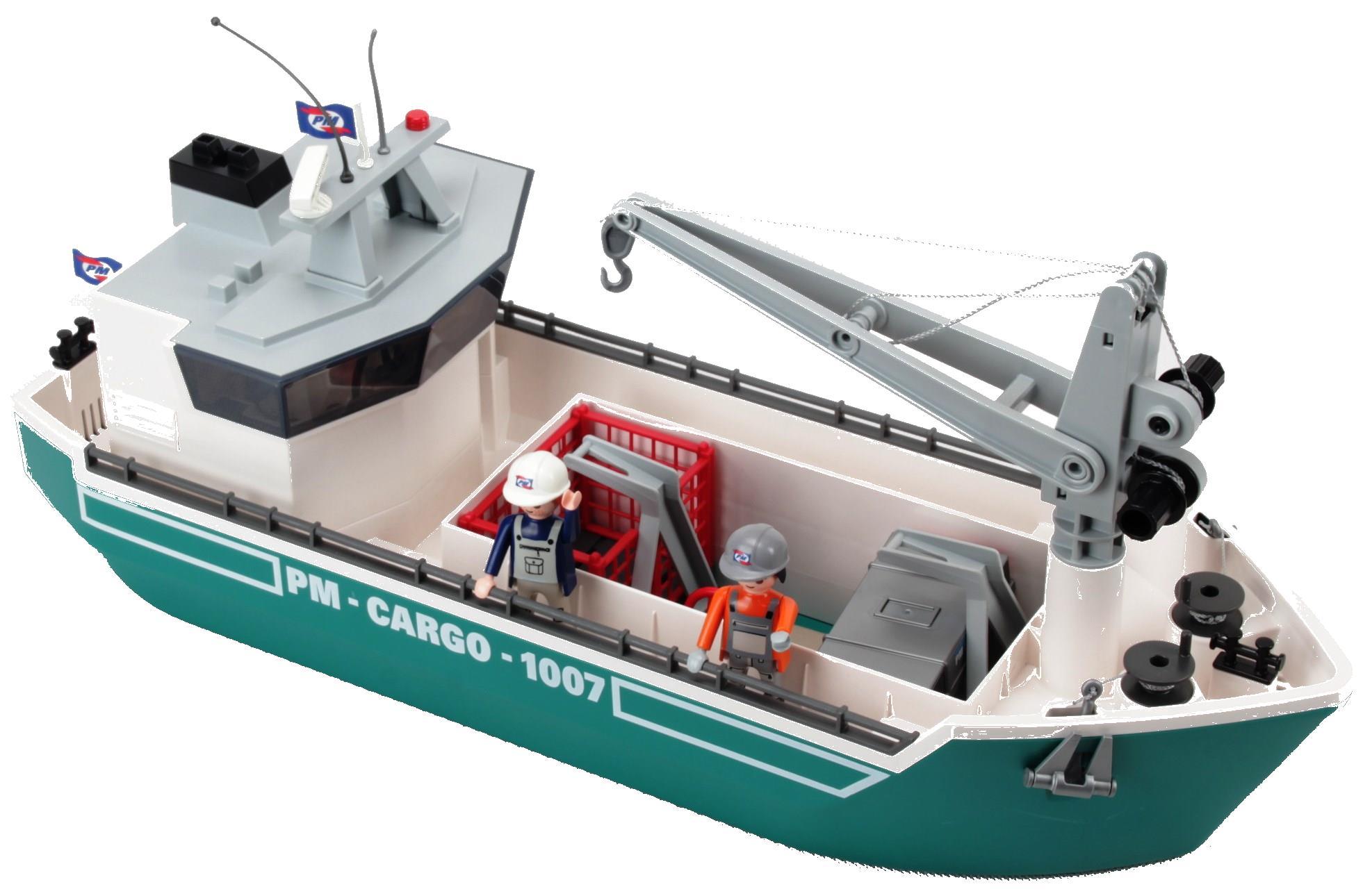 Playmobil - Frachtschiff Mit Verladekran - Decotoys über Playmobil Containerschiff