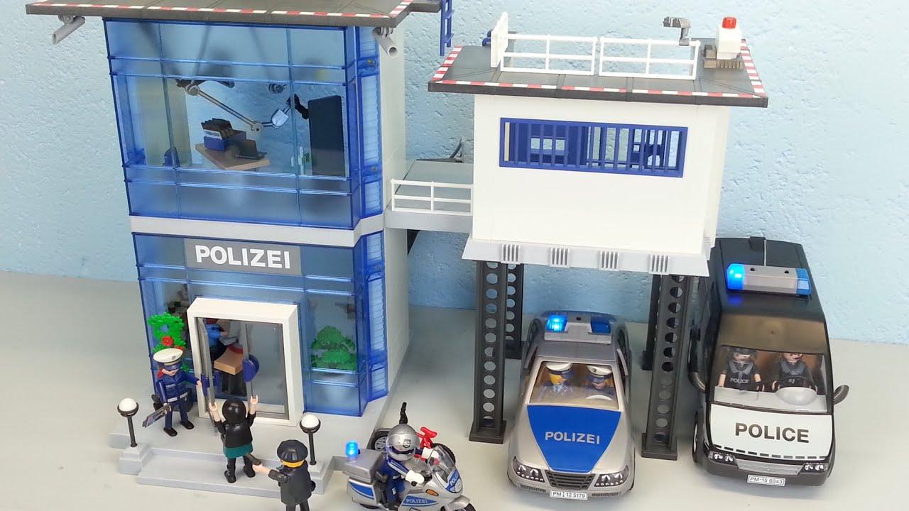 Playmobil Polizeistation 5176 Auspacken Seratus1 Alarm Policestation innen Polizeiwache Playmobil