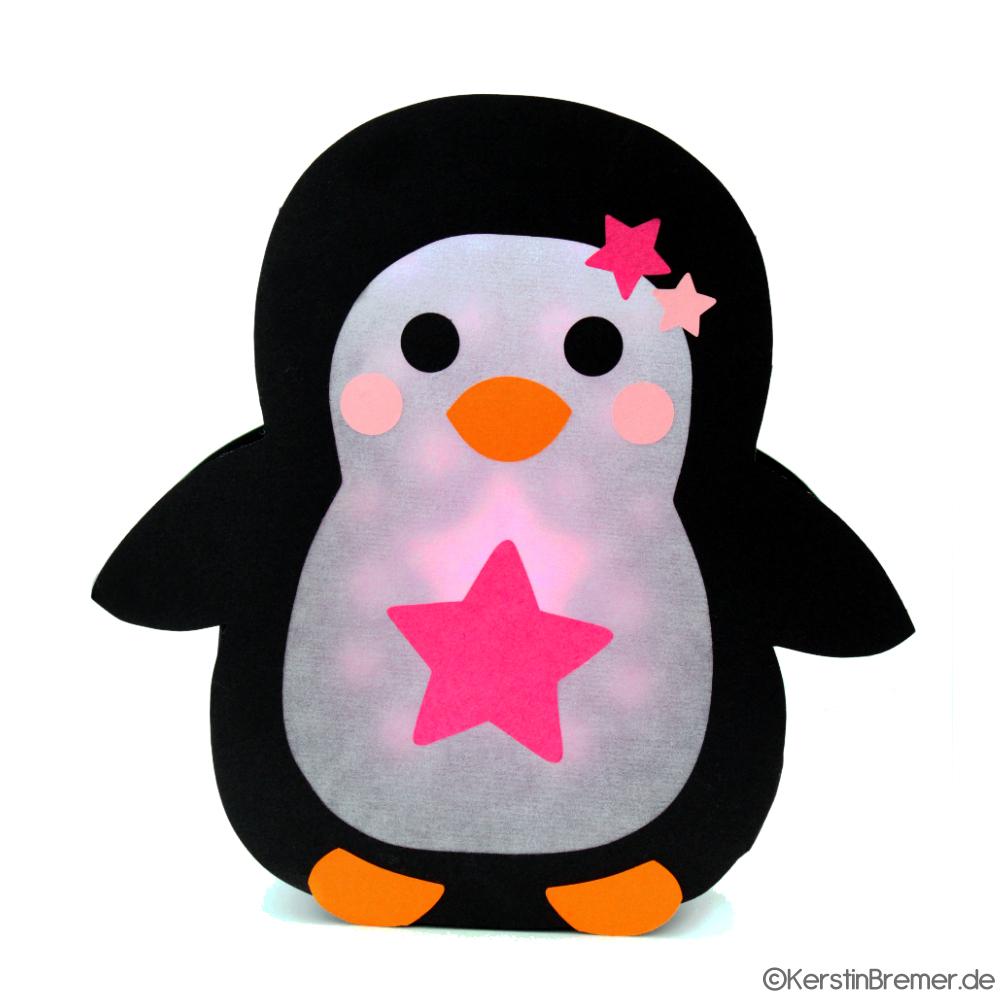 Plotterdatei Pinguin Laterne | Laternen Basteln, Laterne bestimmt für Pinguin Bastelvorlage