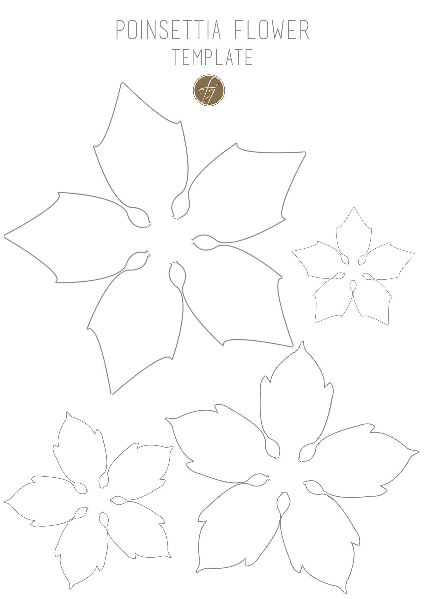 Poinsettia Flower Template Iii Copy   Blumen Vorlage ganzes Vorlage Weihnachtsstern