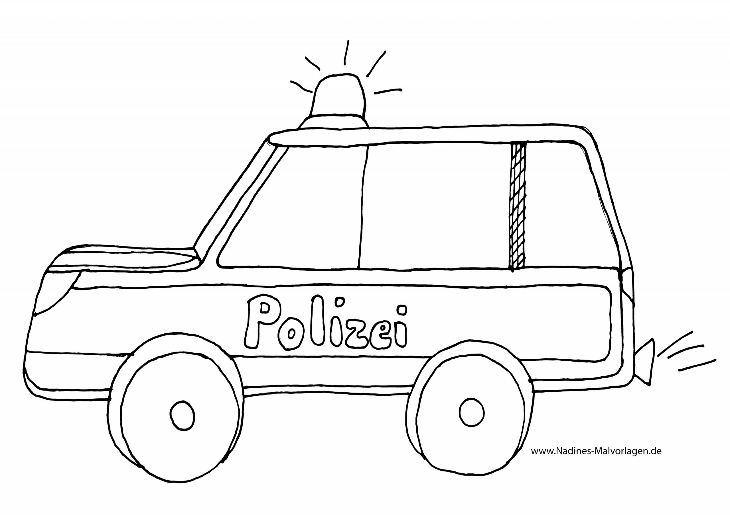 Polizeiauto Mit Blaulicht Ausmalbild 78 Malvorlage Polizei über Ausmalbilder Polizei