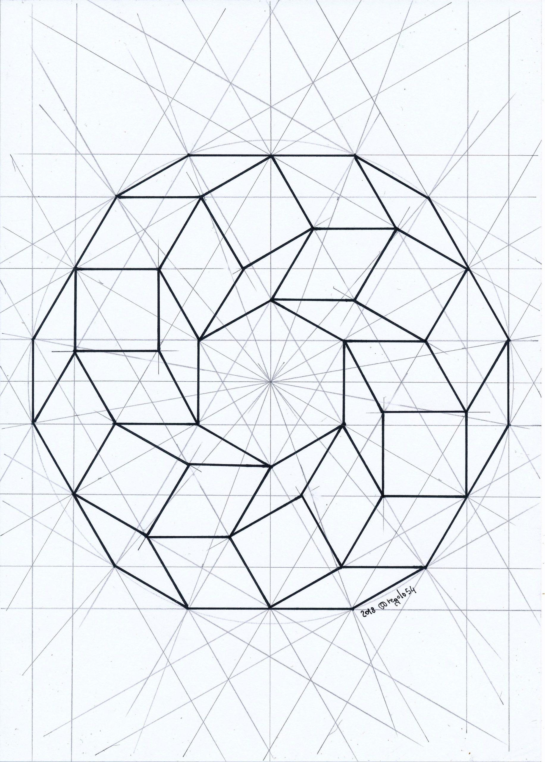 Polyhedra #solid #geometry #symmetry #mathart #regolo54 für Geometrisches Zeichnen Vorlagen