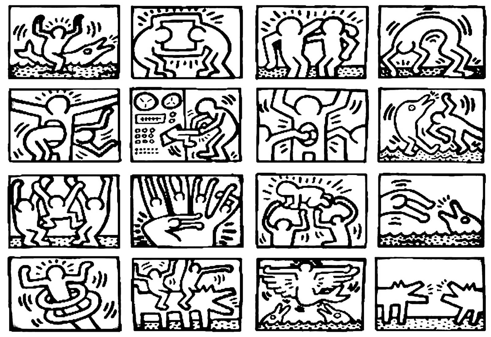 Pop Art 18243 - Pop Art - Malbuch Fur Erwachsene bestimmt für Keith Haring Malvorlagen