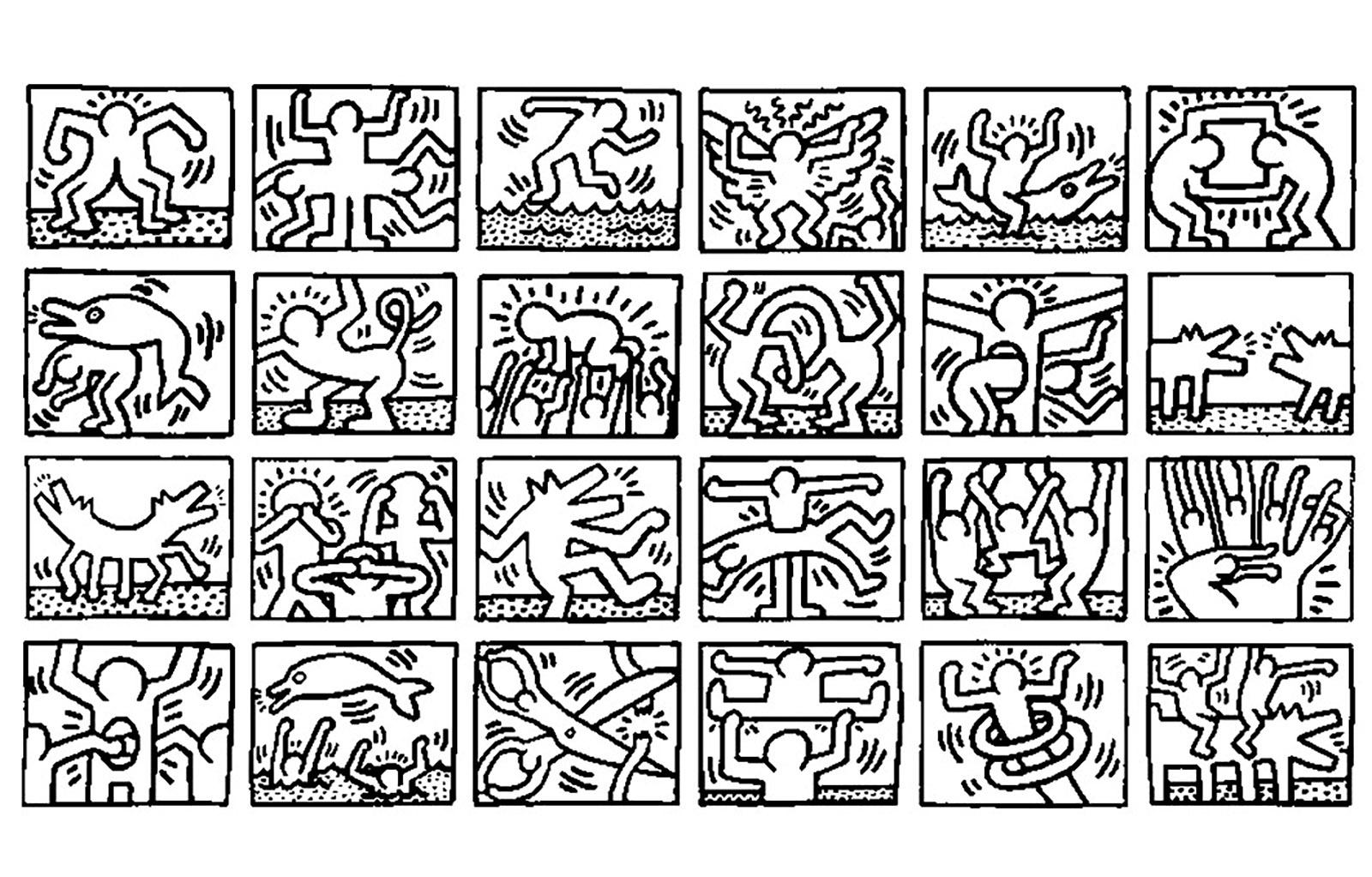 Pop Art 23174 - Pop Art - Malbuch Fur Erwachsene über Keith Haring Malvorlagen
