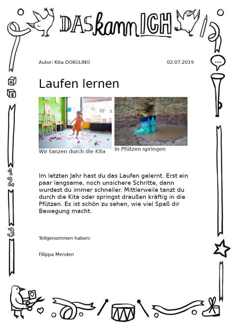 Portfolio In Kindergarten, Kita, Krippe & Hort | Kitalino bei Portfolio Kindergarten Vorlagen