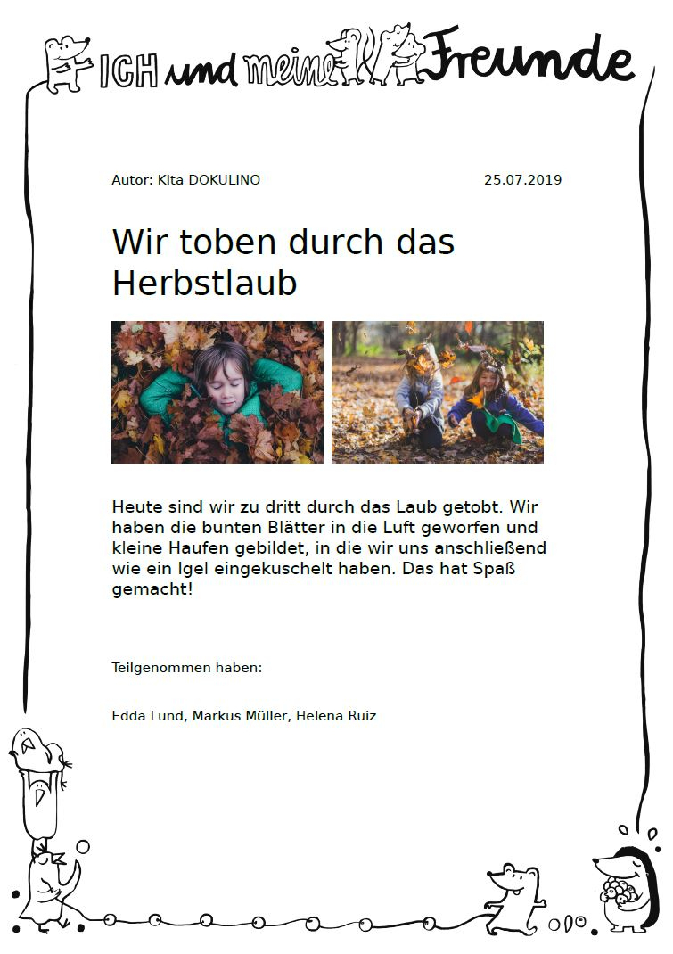 Portfolio In Kindergarten, Kita, Krippe & Hort | Kitalino bestimmt für Portfolio Kindergarten Vorlagen