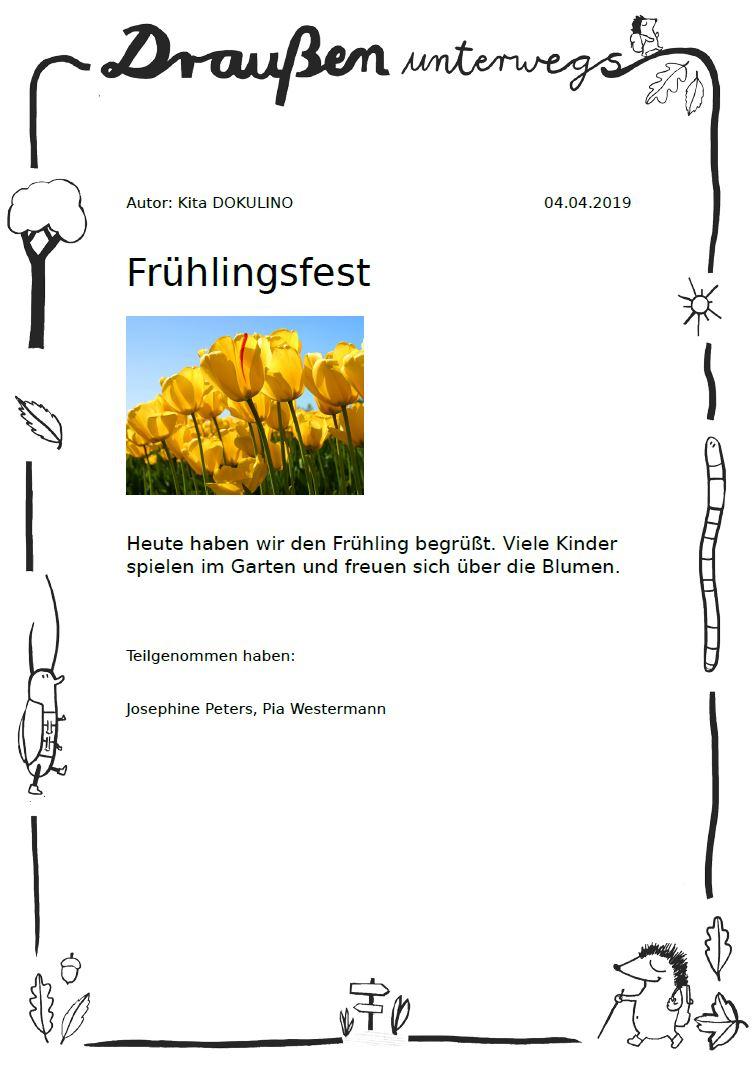 Portfolio In Kindergarten, Kita, Krippe & Hort | Kitalino für Portfolio Kindergarten Vorlagen