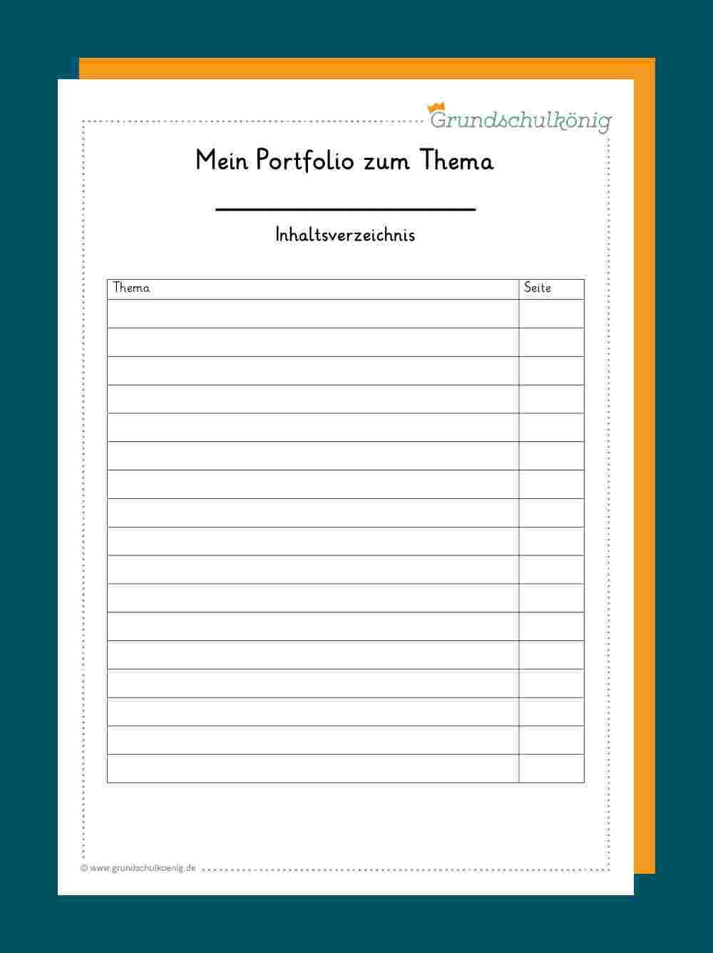 Portfolio in Portfolio Vorlagen Zum Ausdrucken