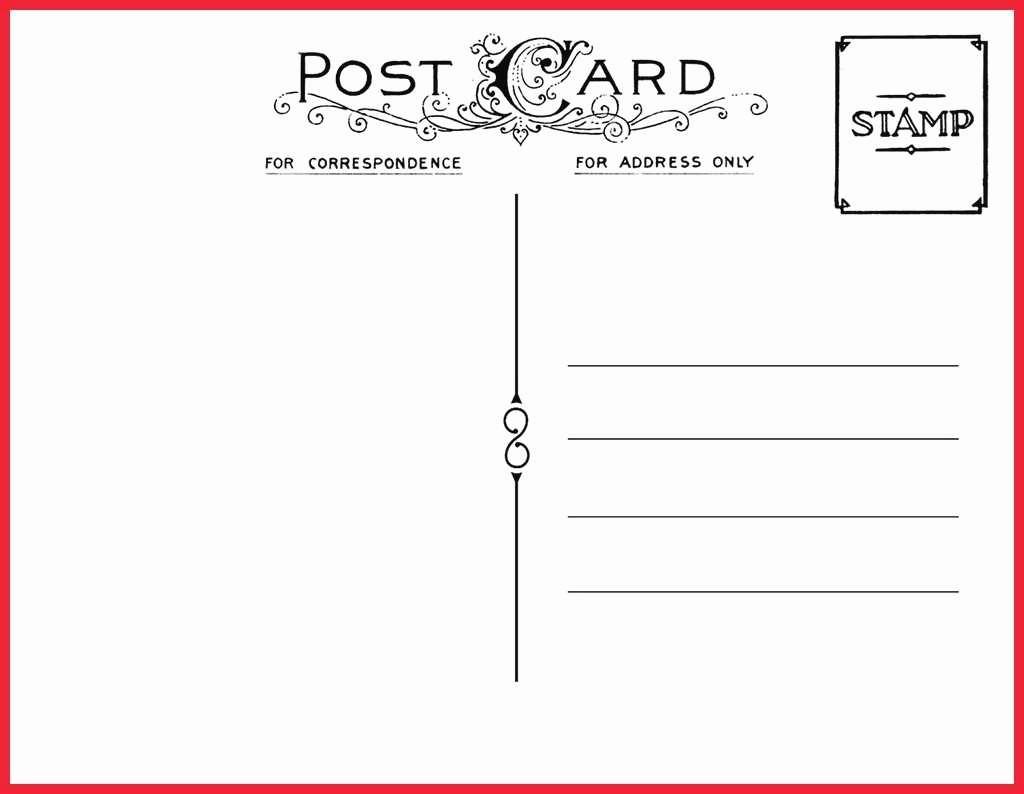 Postkarten Vorlagen Kostenlos Schön Postcard Template Pdf bestimmt für Postkarten Kostenlos Drucken