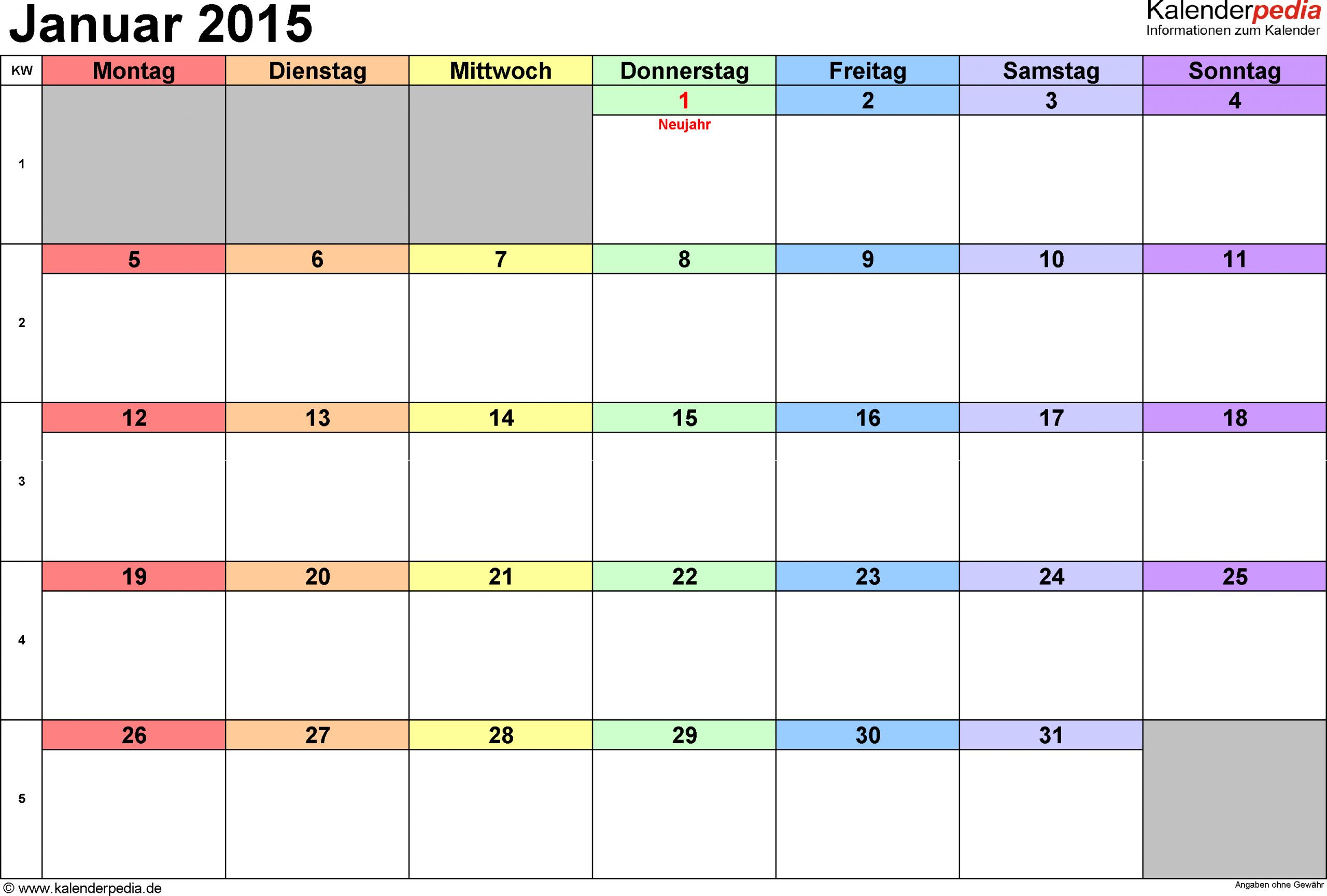 Praktische, Vielseitige Monatskalender Als Vorlagen Im in Monatskalender Vorlage