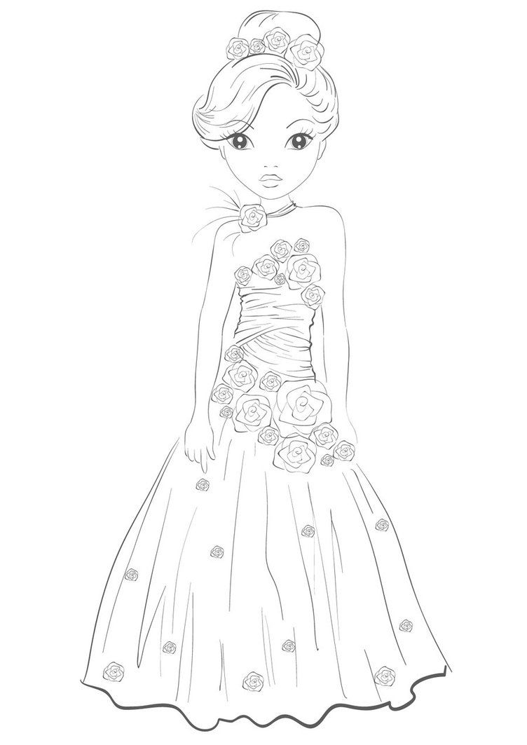 Princess Dress By Funandcake | Topmodel Ausmalbilder bei Malvorlagen Topmodel