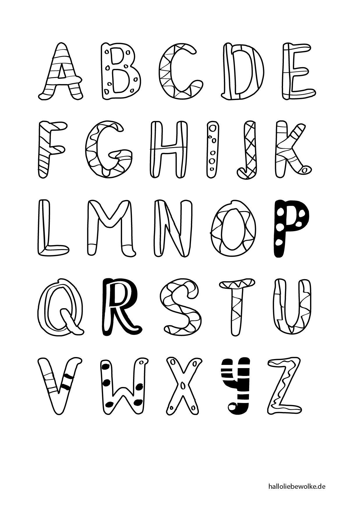 Printable & Malvorlage} Buchstaben Lernen (Mit Bildern bestimmt für Malvorlage Buchstaben