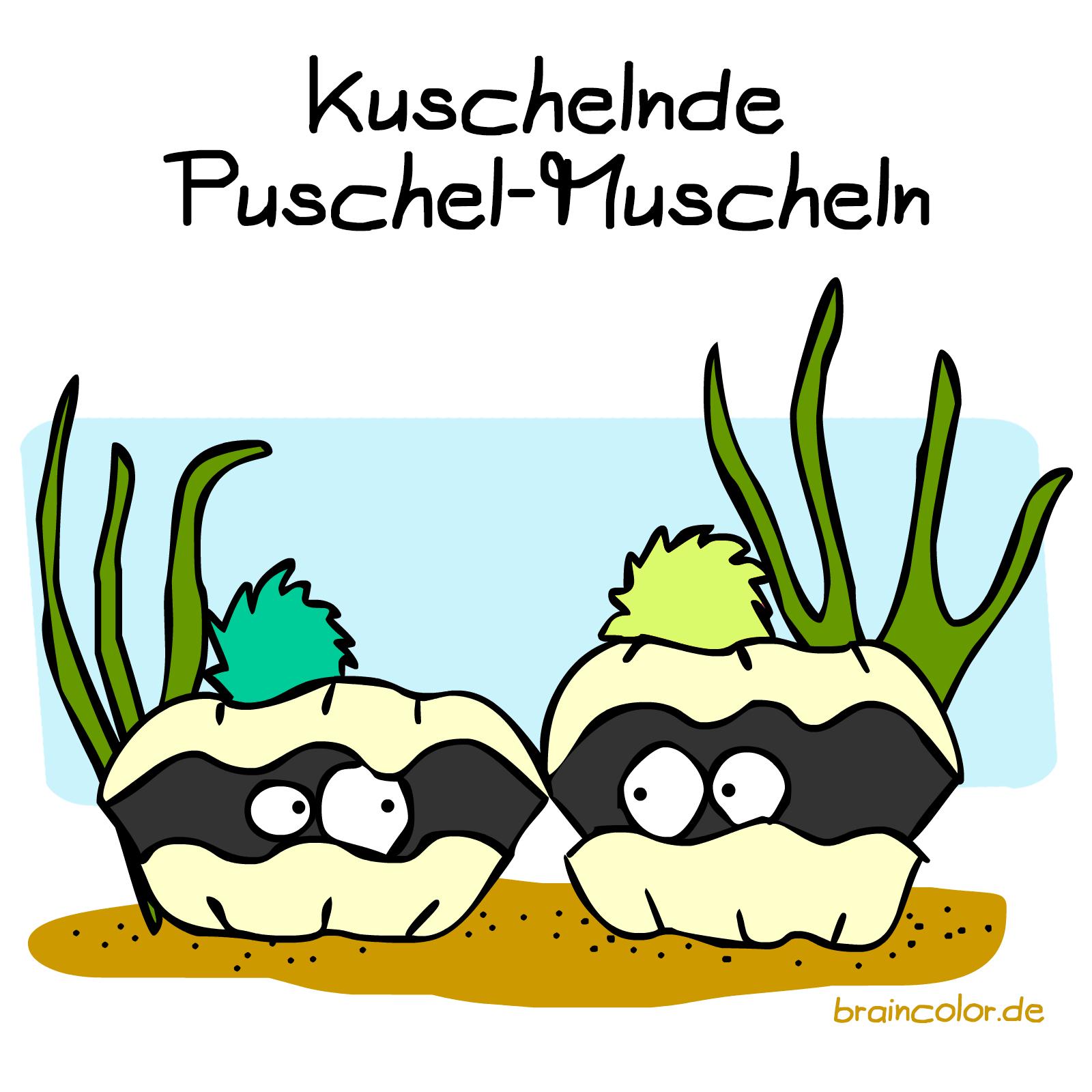 Puschel-Muschel In 2020 | Schlechte Wortwitze, Lustig, Wortwitze ganzes Comic Muschel