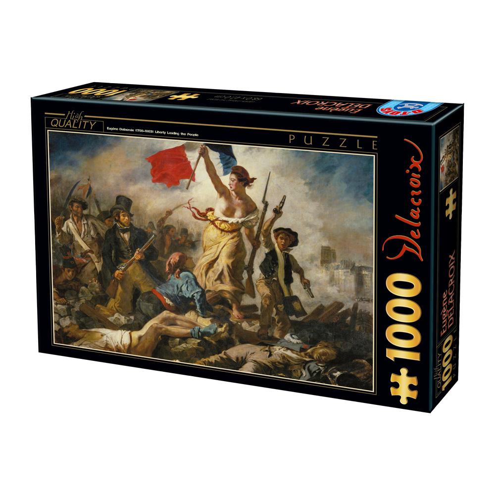 Puzzle Eugène Delacroix: Die Freiheit Führt Das Volk mit Delacroix Die Freiheit Führt Das Volk