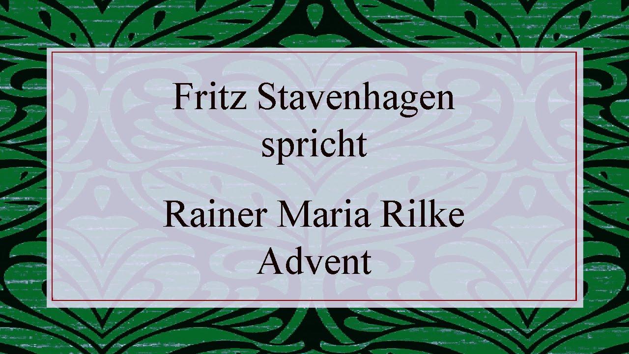 """Rainer Maria Rilke """"Advent"""" (1897) I verwandt mit Rainer Maria Rilke Weihnachtsgedichte"""