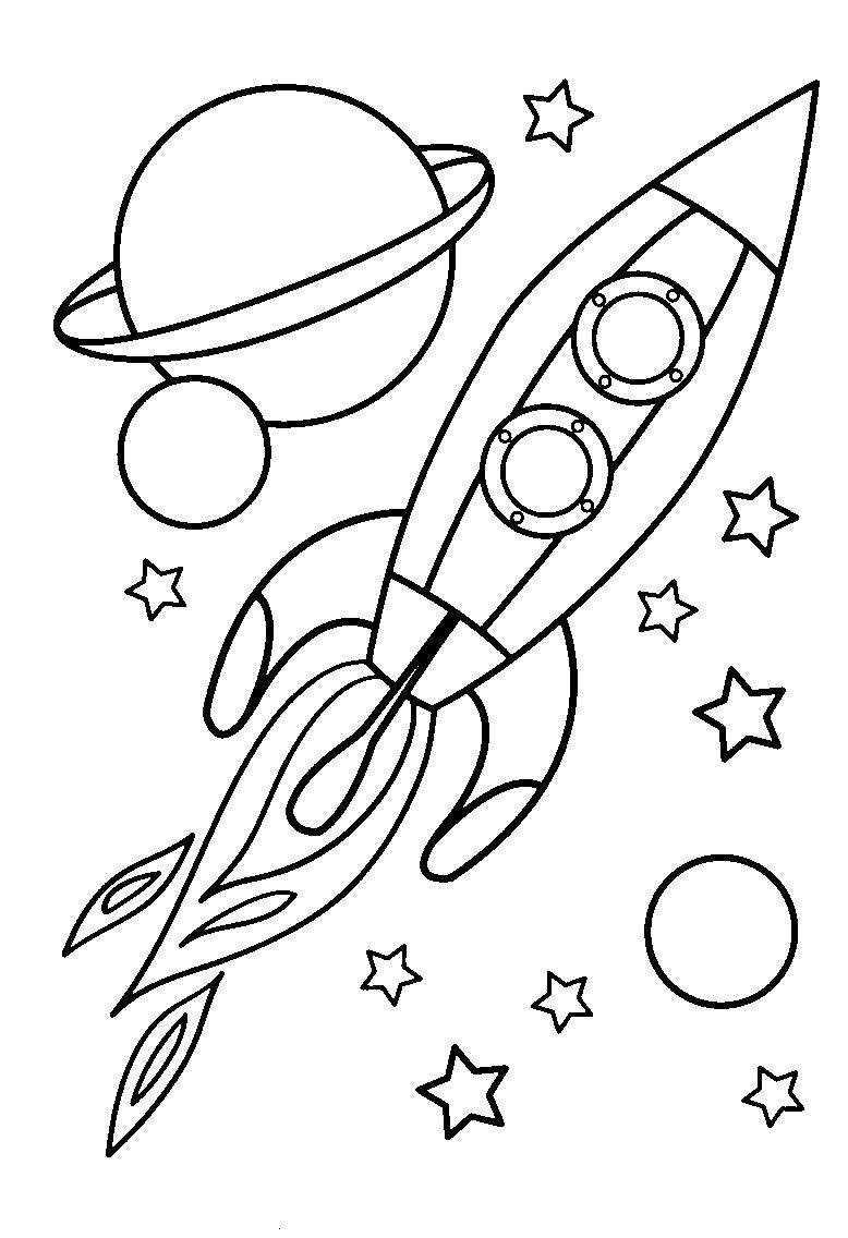 Rakete … (Mit Bildern) | Malvorlagen, Raumschiff, Kostenlose mit Vorlage Rakete Malen