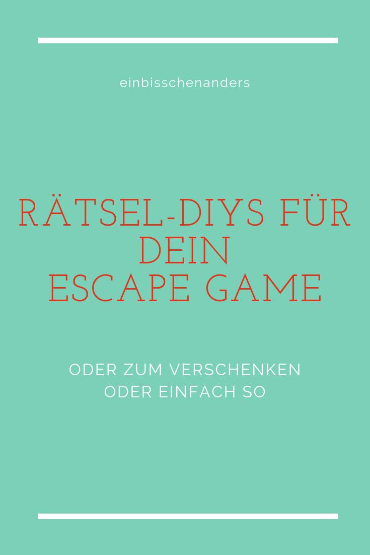 Rätsel-Diys Für Dein Escape Game | Rätsel Selber Machen über Rätsel Selbst Machen